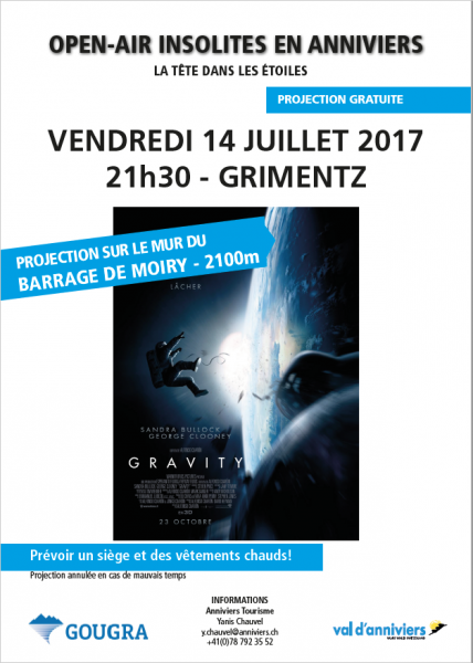 Gravity en open air sur le mur du barrage!