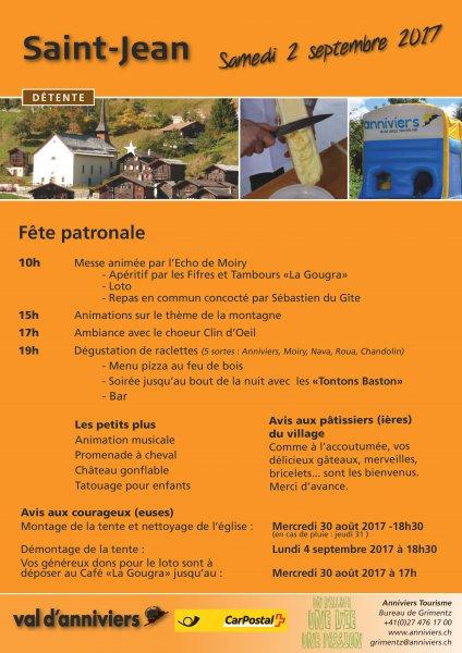 Fête Patronale de St-Jean 2017 - flyer