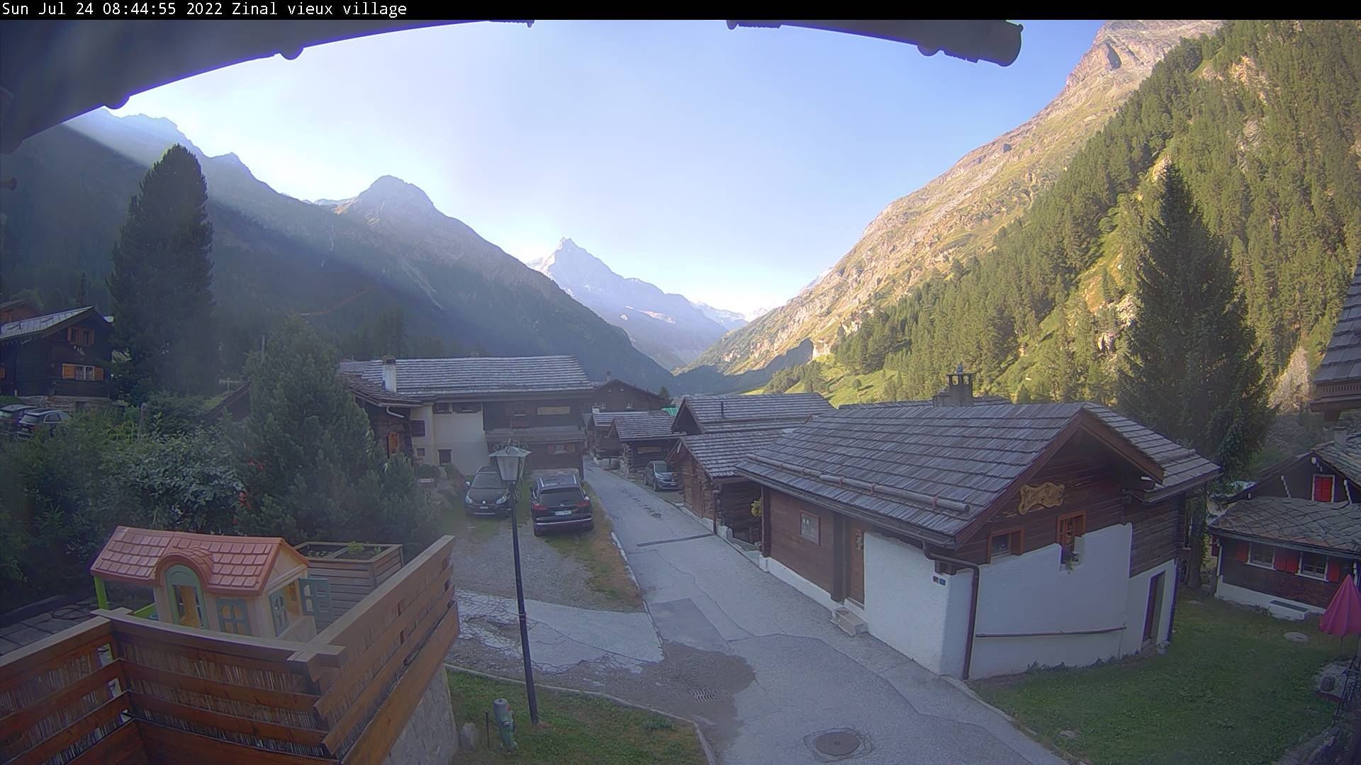 Webcam Zinal village - Alt. 1670 m.